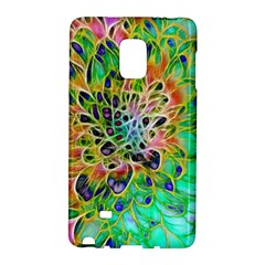 Abstract peacock Chrysanthemum Samsung Galaxy Note Edge Hardshell Case