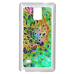 Abstract peacock Chrysanthemum Samsung Galaxy Note 4 Case (White)