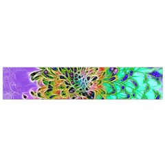 Abstract Peacock Chrysanthemum Flano Scarf (small)