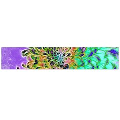Abstract Peacock Chrysanthemum Flano Scarf (large)