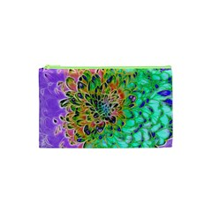 Abstract peacock Chrysanthemum Cosmetic Bag (XS)