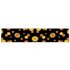 Floral Print Modern Style Pattern Flano Scarf (small)
