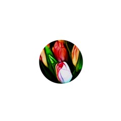 Abstract Pink Tulips 1  Mini Button Magnet