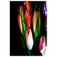Abstract Pink Tulips Canvas 20  X 30  (unframed)