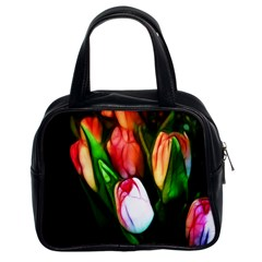 Abstract Pink Tulips Classic Handbag (two Sides)