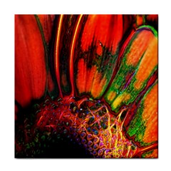 Abstract Of An Orange Gerbera Daisy Ceramic Tile