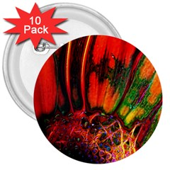 Abstract Of An Orange Gerbera Daisy 3  Button (10 Pack)