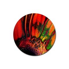 Abstract Of An Orange Gerbera Daisy Drink Coaster (round)