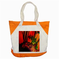 Abstract of an Orange Gerbera Daisy Accent Tote Bag