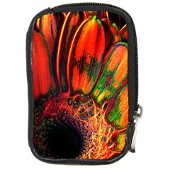 Abstract Of An Orange Gerbera Daisy Compact Camera Leather Case
