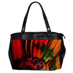 Abstract Of An Orange Gerbera Daisy Oversize Office Handbag (one Side)
