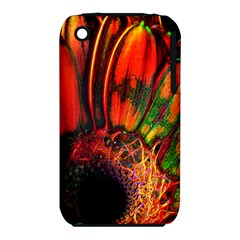 Abstract Of An Orange Gerbera Daisy Apple Iphone 3g/3gs Hardshell Case (pc+silicone)