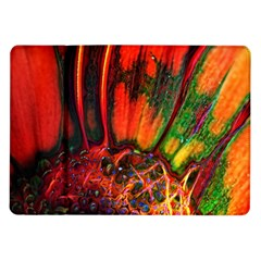 Abstract of an Orange Gerbera Daisy Samsung Galaxy Tab 10.1  P7500 Flip Case