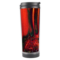 Abstract Of An Orange Gerbera Daisy Travel Tumbler