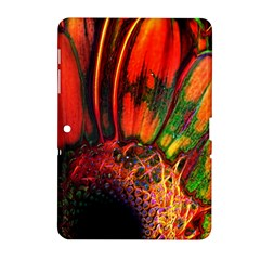 Abstract of an Orange Gerbera Daisy Samsung Galaxy Tab 2 (10.1 ) P5100 Hardshell Case