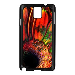 Abstract of an Orange Gerbera Daisy Samsung Galaxy Note 3 N9005 Case (Black)