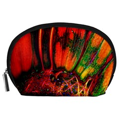 Abstract of an Orange Gerbera Daisy Accessory Pouch (Large)