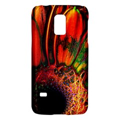 Abstract of an Orange Gerbera Daisy Samsung Galaxy S5 Mini Hardshell Case