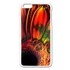 Abstract of an Orange Gerbera Daisy Apple iPhone 6 Plus Enamel White Case