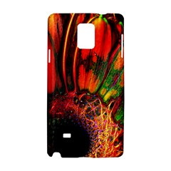 Abstract of an Orange Gerbera Daisy Samsung Galaxy Note 4 Hardshell Case