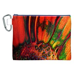 Abstract of an Orange Gerbera Daisy Canvas Cosmetic Bag (XXL)