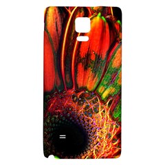 Abstract of an Orange Gerbera Daisy Samsung Note 4 Hardshell Back Case