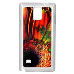 Abstract of an Orange Gerbera Daisy Samsung Galaxy Note 4 Case (White)