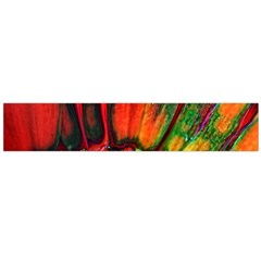 Abstract of an Orange Gerbera Daisy Flano Scarf (Large)