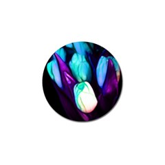 Abstract Purple Tulips Golf Ball Marker