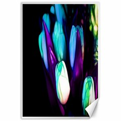 Abstract Purple Tulips Canvas 24  X 36  (unframed)
