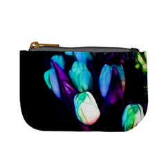 Abstract Purple Tulips Coin Change Purse