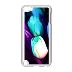 Abstract Purple Tulips Apple iPod Touch 5 Case (White)