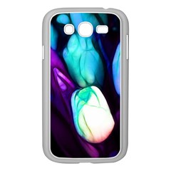 Abstract Purple Tulips Samsung Galaxy Grand DUOS I9082 Case (White)