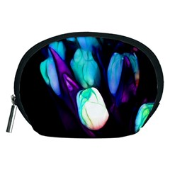 Abstract Purple Tulips Accessory Pouch (medium)