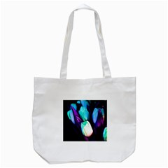 Abstract Purple Tulips Tote Bag (white)