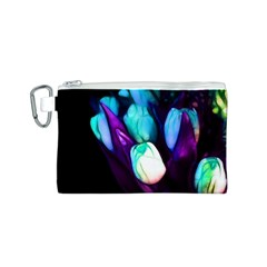 Abstract Purple Tulips Canvas Cosmetic Bag (Small)