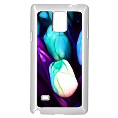 Abstract Purple Tulips Samsung Galaxy Note 4 Case (White)