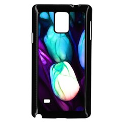 Abstract Purple Tulips Samsung Galaxy Note 4 Case (Black)