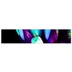 Abstract Purple Tulips Flano Scarf (Small)
