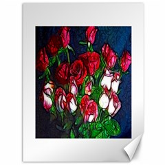 Abstract Red and White Roses Bouquet Canvas 36  x 48  (Unframed)
