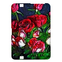 Abstract Red And White Roses Bouquet Kindle Fire Hd 8 9  Hardshell Case