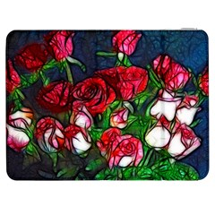 Abstract Red And White Roses Bouquet Samsung Galaxy Tab 7  P1000 Flip Case