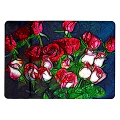 Abstract Red And White Roses Bouquet Samsung Galaxy Tab 10 1  P7500 Flip Case
