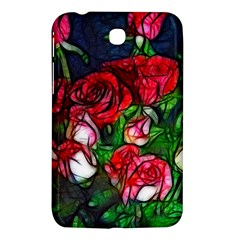Abstract Red And White Roses Bouquet Samsung Galaxy Tab 3 (7 ) P3200 Hardshell Case