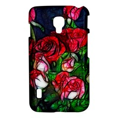 Abstract Red and White Roses Bouquet LG Optimus L7 II P715 Hardshell Case