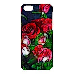 Abstract Red and White Roses Bouquet Apple iPhone 5C Hardshell Case