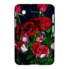 Abstract Red and White Roses Bouquet Samsung Galaxy Tab 2 (7 ) P3100 Hardshell Case