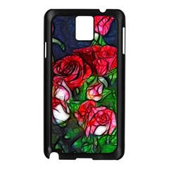 Abstract Red and White Roses Bouquet Samsung Galaxy Note 3 N9005 Case (Black)