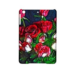 Abstract Red And White Roses Bouquet Apple Ipad Mini 2 Hardshell Case