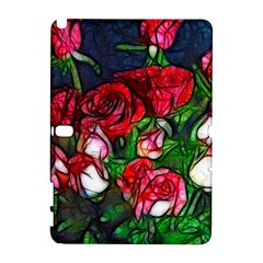 Abstract Red and White Roses Bouquet Samsung Galaxy Note 10.1 (P600) Hardshell Case